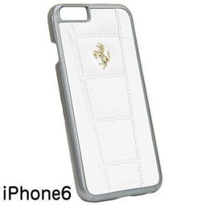 フェラーリ純正 iPhone6/6sレザー背面ケース-458/ホワイト-|itazatsu