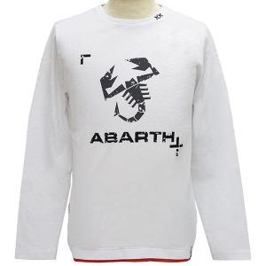 アバルト純正長袖Tシャツ-ロゴ/ホワイト-|itazatsu