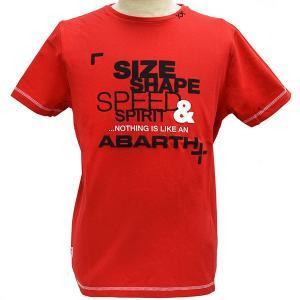 アバルト純正SIZE SHAPE SPEED & SPIRIT Tシャツ/レッド|itazatsu