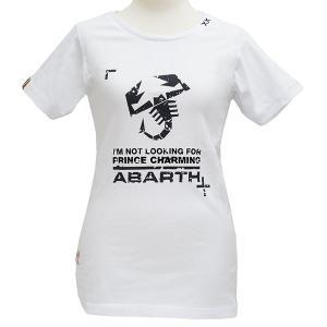 アバルト純正レディスTシャツ-PRINCE CHARMING/ホワイト-|itazatsu