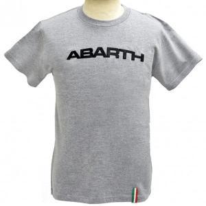 アバルト純正シンプルロゴTシャツ(ライトグレー)|itazatsu