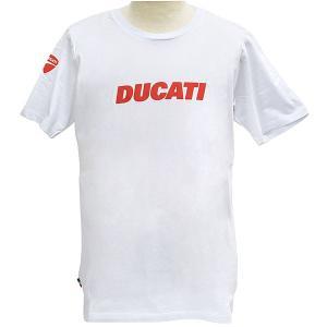 ドゥカティ純正Tシャツ-DUCATINA V2/ホワイト-...