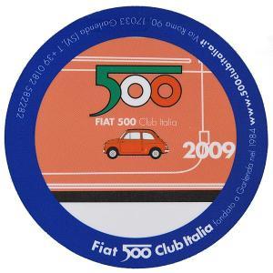 83mm(直径)  FIAT 500 CLUB ITALIAがメンバー向けに製作したステッカーです。...