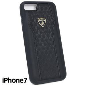 ランボルギーニ純正 iPhone7背面レザーケース (ブラック/ブラック)|itazatsu