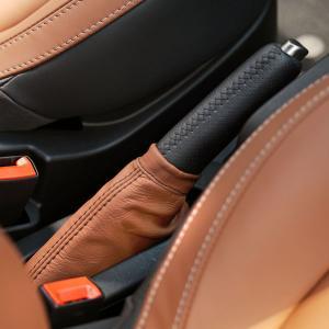 フィアット/アバルト 500レザーサイドブレーキブーツ(ブラウン)|itazatsu