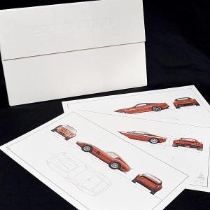 フェラーリ純正 GTOプレミアムビュー招待者贈呈用リトグラフセット|itazatsu
