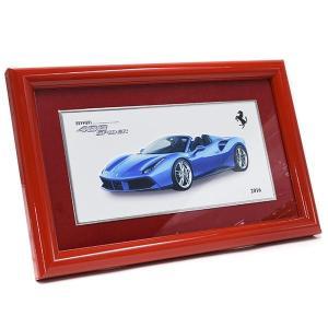 フェラーリ純正 488 Spider額装プレート/Ferrari 2016年度退職者記念用|itazatsu