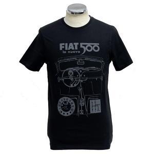 フィアット純正 Nuova 500Tシャツ(ブラック)|itazatsu