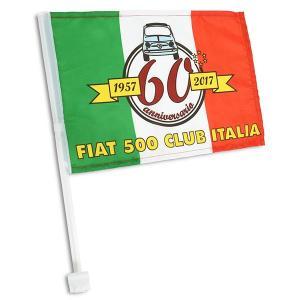 フィアット FIAT 500 CLUB ITALIA FIAT 500 60周年記念ウィンドウフラッグ|itazatsu