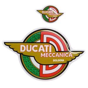 ドゥカティ DUCATI MECCANICA 3Dステッカーセット(2枚組)|itazatsu
