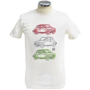 フィアット純正 Nuova 500 Tシャツ(アイボリー)|itazatsu