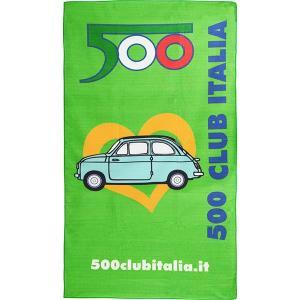 フィアット FIAT 500 CLUB ITALIAビーチタオル|itazatsu