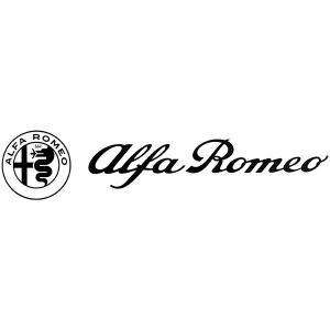 アルファロメオ ロゴ& Newエンブレムステッカー(ブラック/切り文字タイプ/260mm)|itazatsu