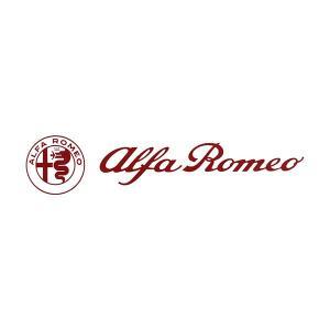 アルファロメオ ロゴ& Newエンブレムステッカー(レッド/切り文字タイプ/172mm)|itazatsu