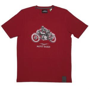 Moto GuzziオフィシャルTシャツ-CLASSIC-(レッド)|itazatsu