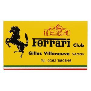 フェラーリ Ferrari Club Gilles Villeneuveステッカー|itazatsu