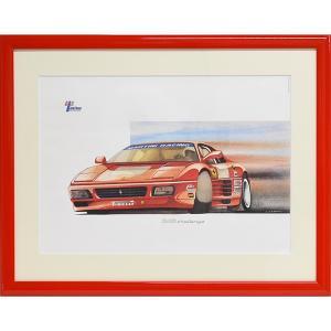 フェラーリ 348 Challenge額装リトグラフ by Ferrari CLUB ITALIA|itazatsu