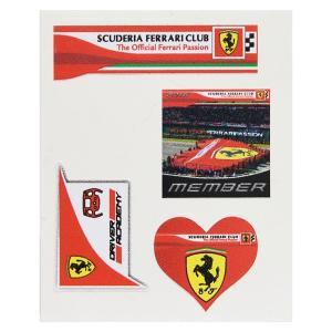 フェラーリ Scuderia Ferrari Club スモールステッカーセット itazatsu