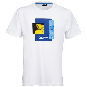ベスパ オフィシャル Tシャツ-Heritage-(ホワイト)|itazatsu