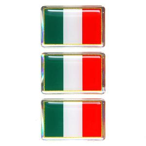 イタリア国旗3Dステッカー(35mm×3枚セット)|itazatsu