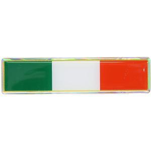 イタリア国旗3Dステッカー|itazatsu