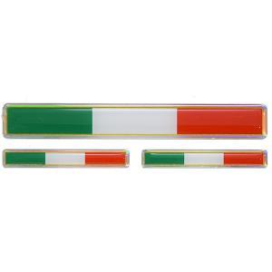 イタリア国旗3Dステッカー(Long/3枚組)|itazatsu