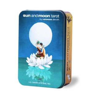 タロットカード サン・アンド・ムーン・タロット 缶入り Sun and Moon in a Tin 日本語解説書付き  item-island-jp2