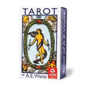 タロットカード 78枚 ライダー版 タロット占い ライダー ポケット アーサー・エドワード版 ブルーエディション Tarot of A.E Waite  日本語解説書付き item-island-jp2