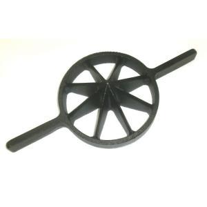 両手竹割り器(鋳物製)内径約180mm 大8ッ割 孟宗竹用