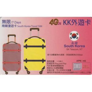 【KK】韓国 Wスタンバイカード(SK Telecom・KT)4G-LTE/3G 7日間 無制限 デ...