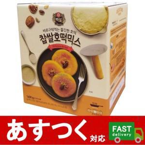 発酵時間を待つことなく、すぐに焼いて食べられるホットック(韓国屋台の定番おやつ)の素。  特徴: ホ...