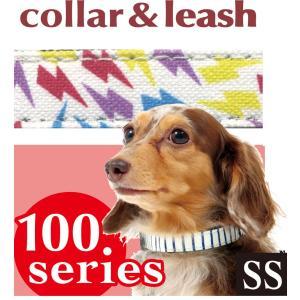 hotodog 【首輪&リードのセット】 カラフルサンダー カラー&リードセット SS サイズ わんちゃん犬の首輪とリードのセット♪|itempetshop