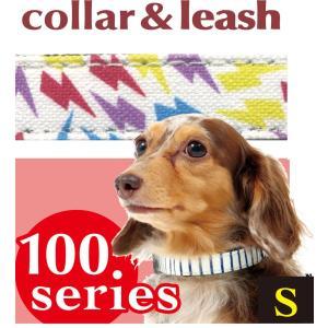 hotodog 【首輪&リードのセット】 カラフルサンダー カラー&リードセット S サイズ わんちゃん犬の首輪とリードのセット♪|itempetshop