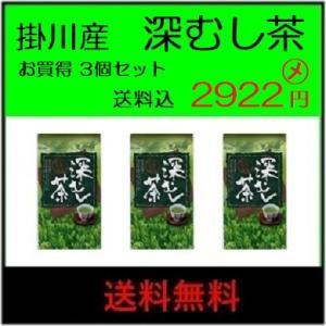 送料無料(ネコポス便) 2019年 掛川産 深蒸し茶(一番摘) 100g864円×3個|itempost