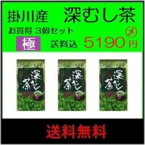 送料無料(ネコポス便) 新茶 元年 掛川産 極 深蒸し茶(一番摘)100g1620円×3個|itempost