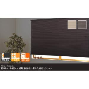 遮光性と断熱・保温効果を兼ね備えた完全遮光のプリーツスクリーン 「プレミアムハニカムシェード」(幅40cmx丈135cm)の写真