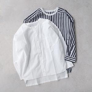UNIVERSAL TISSU ユニヴァーサルティシュ|バーバーストライプ ワーキングシャツ【全2色...