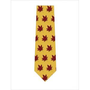 落葉が並んだネクタイ