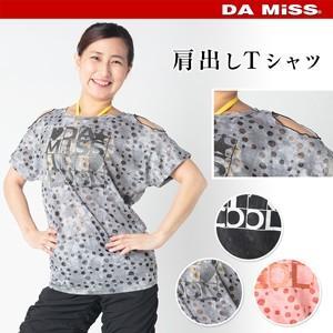 e8af1c0032ef6 DAMISS フィットネスウェア 肩出しTシャツ DAMISS 【ダミス】 レディース ヨガ ダンス ウェア 9114-0153