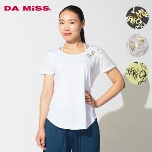 150acd8e905b7 DAMISS フィットネスウェア Tシャツ DAMISS 【ダミス】 レディース ヨガ ダンス ウェア 9313-0133