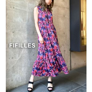 【FIFILLES(フィフィーユ)】マルチプリントロングワンピース★☆|itempost