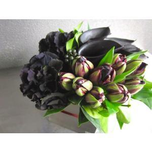 紫黒檀 - shikokutan【2月の花】黒好きにはたまらない!モダンシックなフラワーアレンジを2月のみの限定販売です。 [ アレンジメント L size ] ◆季節限定 2|itempost