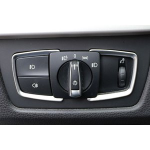 【BMW 320/328】 F30/F31/F32/F34 ヘッドライトスイッチフレーム シルバー|itempost