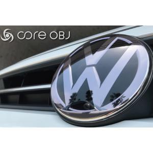 VW フロントエンブレム プロテクター・スモークタイプ core OBJ|itempost