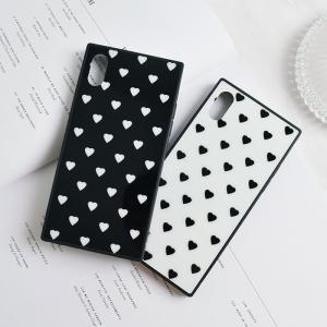 [スマホケース/iPhoneケース]【Square Style Cute Love Heart iP...