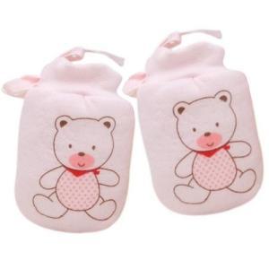 【かきむしり】【保護】 くまさん新生児ミトン:ピンク...