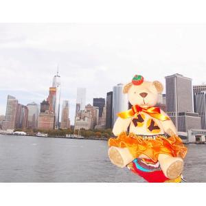 高級カシミヤ製の「NY Teddy Bear World」 コラボベア。ハロウィン・マンゴー・キッド...
