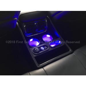 トヨタ車 200系クラウン用 VIP仕様ブルーLED照明付リアセンターコンソール小型版(黒) itempost