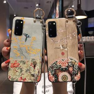 送料無料 Samsung Galaxy S20 ケース ギャラクシー s20 ケース サンスム 6.2インチ SC-51A SCG01 docomo au スマホケース 背面カバー 浮き彫り ストラップ付き itempost