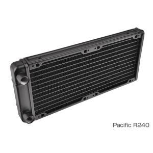 Thermaltake Pacific R240/DIY LCS/Radiator 240x120x28mm 薄型ラジエーター (CL-W009-AL00BL-A)